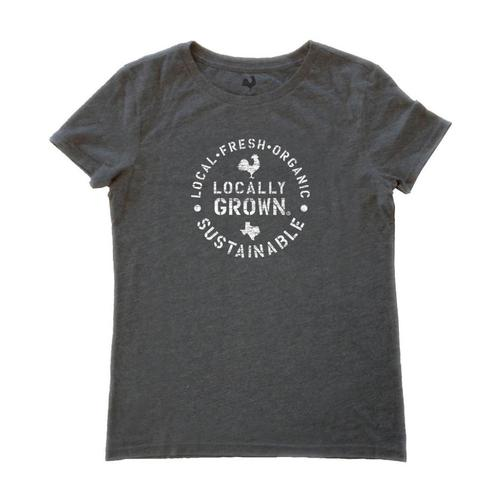 Locally Grown Women's Texas Sustainable State Tee Phantom