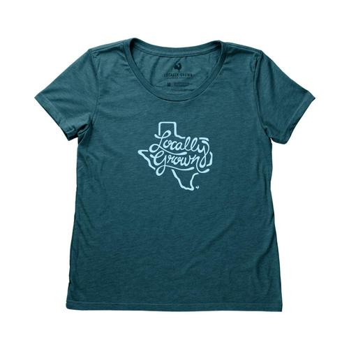 Locally Grown Women's Texas State Script Tee