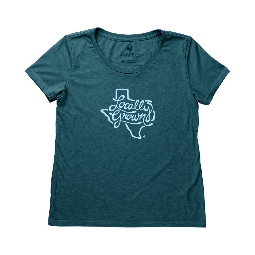 Locally Grown Women's Texas State Script Tee RIDGELINE
