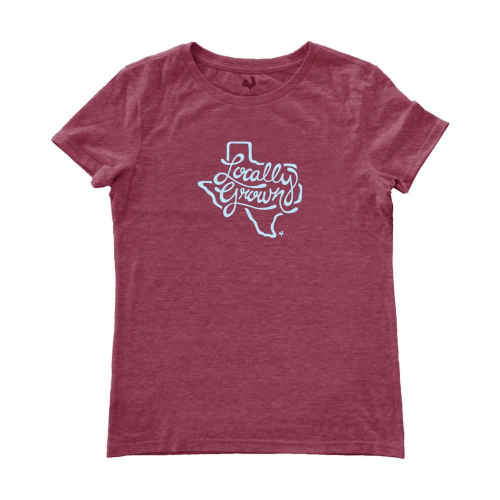 Locally Grown Women's Texas State Script Tee WILDBERRY
