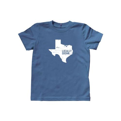 Locally Grown Kids Texas Solid State Tee