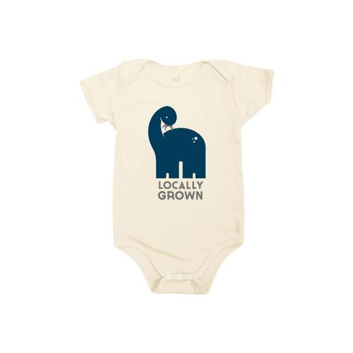Locally Grown Infant Dino Onesie