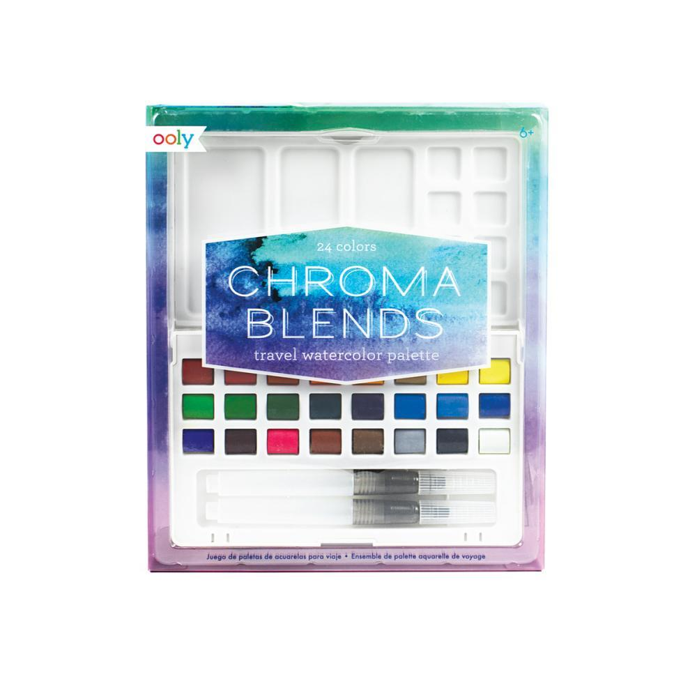 Ooly Chroma Blends Travel Watercolor Palette 27PIECE