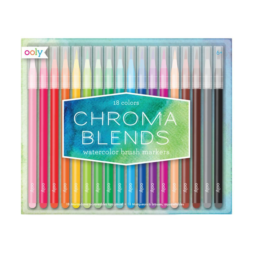 Ooly Chroma Blends Watercolor Brush Markers SETOF18