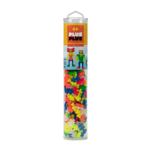 Plus-Plus Open Play Tube - 240 Piece Neon Mix 240pc