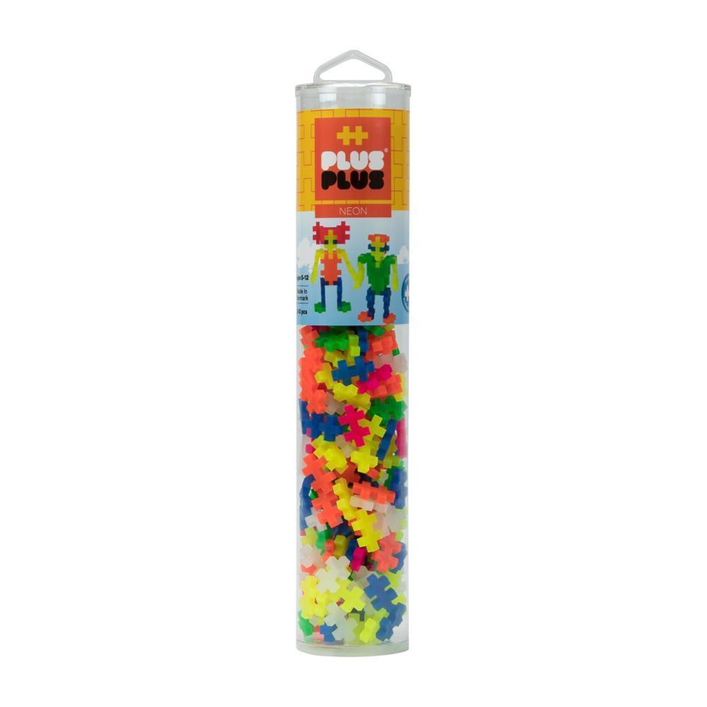 Plus- Plus Open Play Tube - 240 Piece Neon Mix