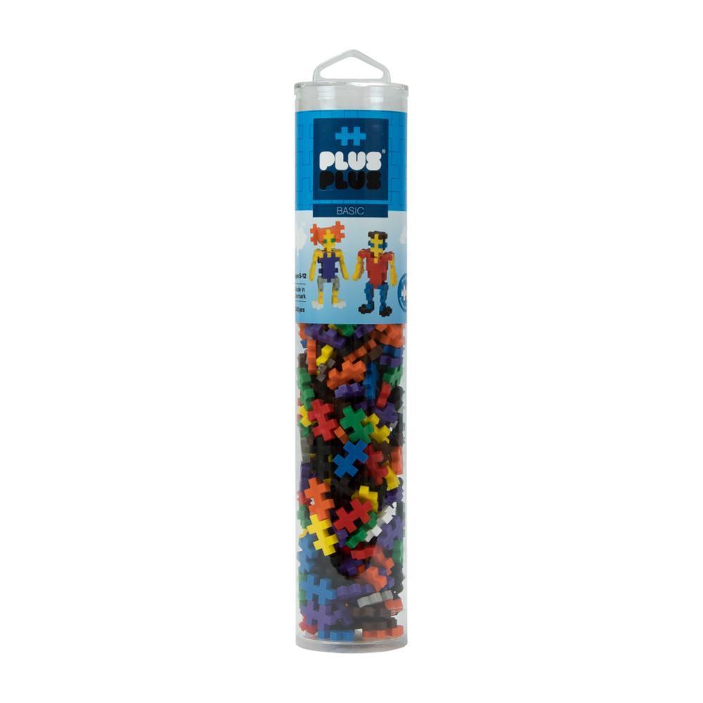 Plus- Plus Open Play Tube - 240 Piece Basic Mix