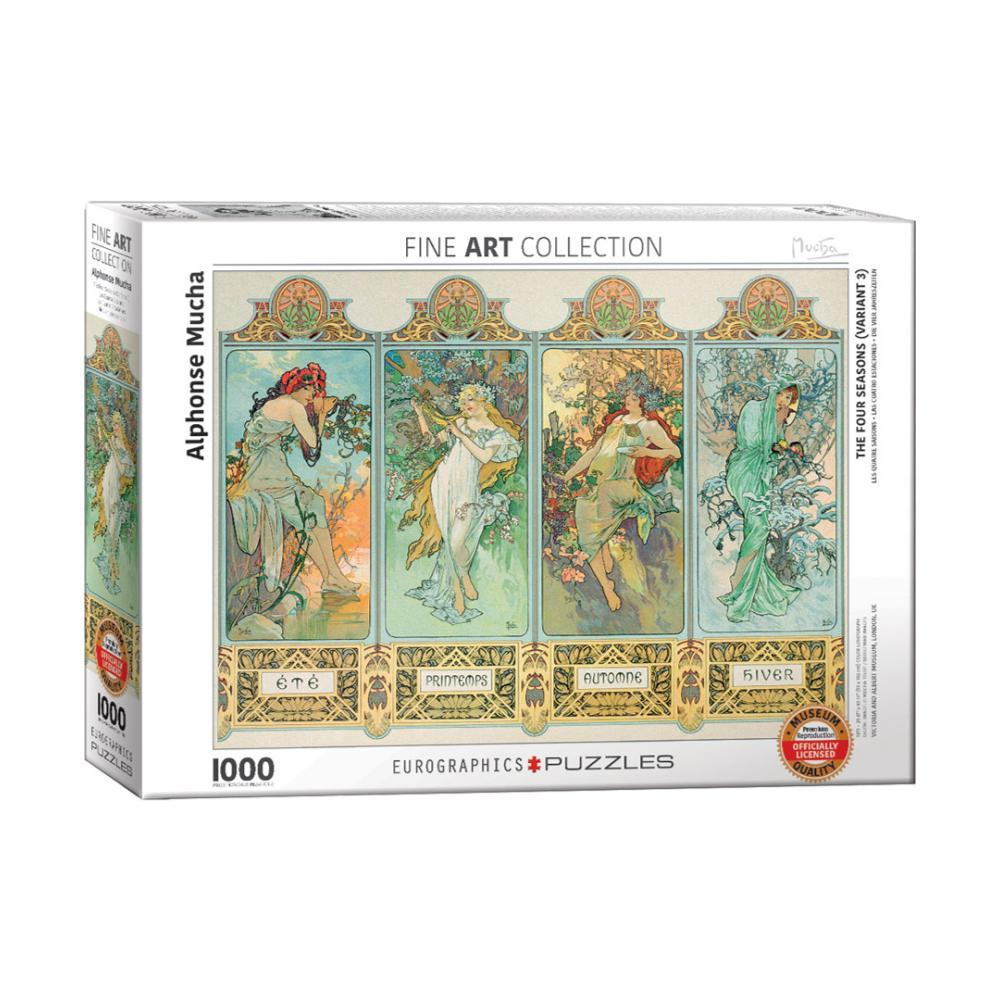 Eurographics The Four Seasons (Variant 3) By Alphonse Mucha 1, 000- Piece Jigsaw Puzzle