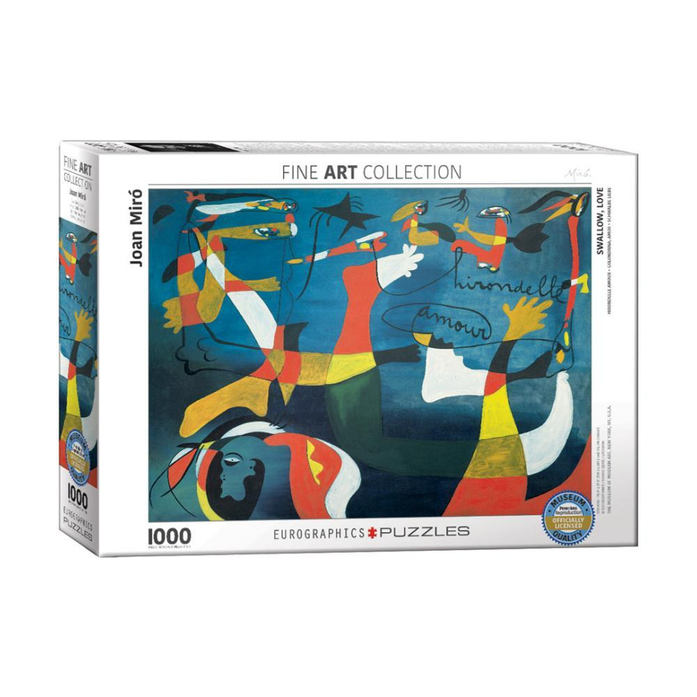 Eurographics Swallow Love By Joan Miro 1000- Piece Jigsaw Puzzle