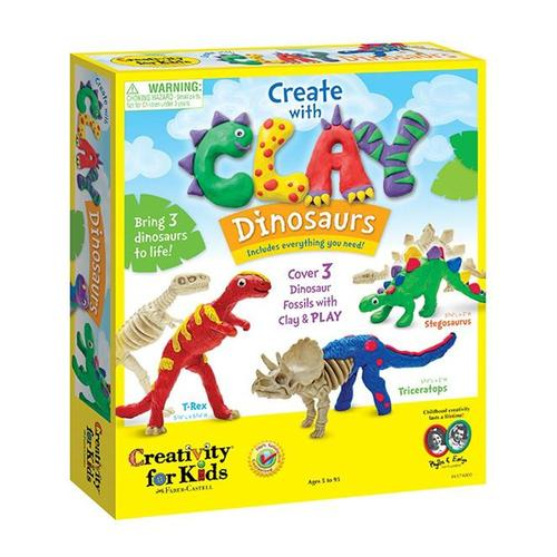 Faber-Castell Creativity for Kids Create with Clay Dinosaurs