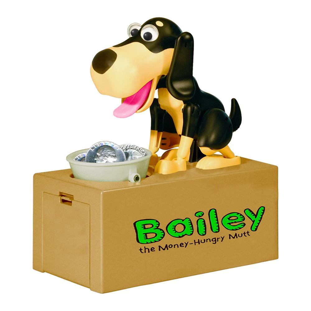 Leading Edge Bailey the Money-Hungry Mutt Coin Bank SAND_BLK