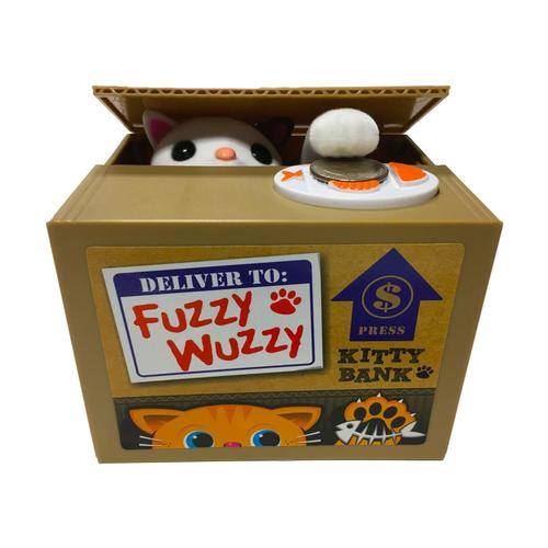 Leading Edge Fuzzy Wuzzy Kitty Coin Bank