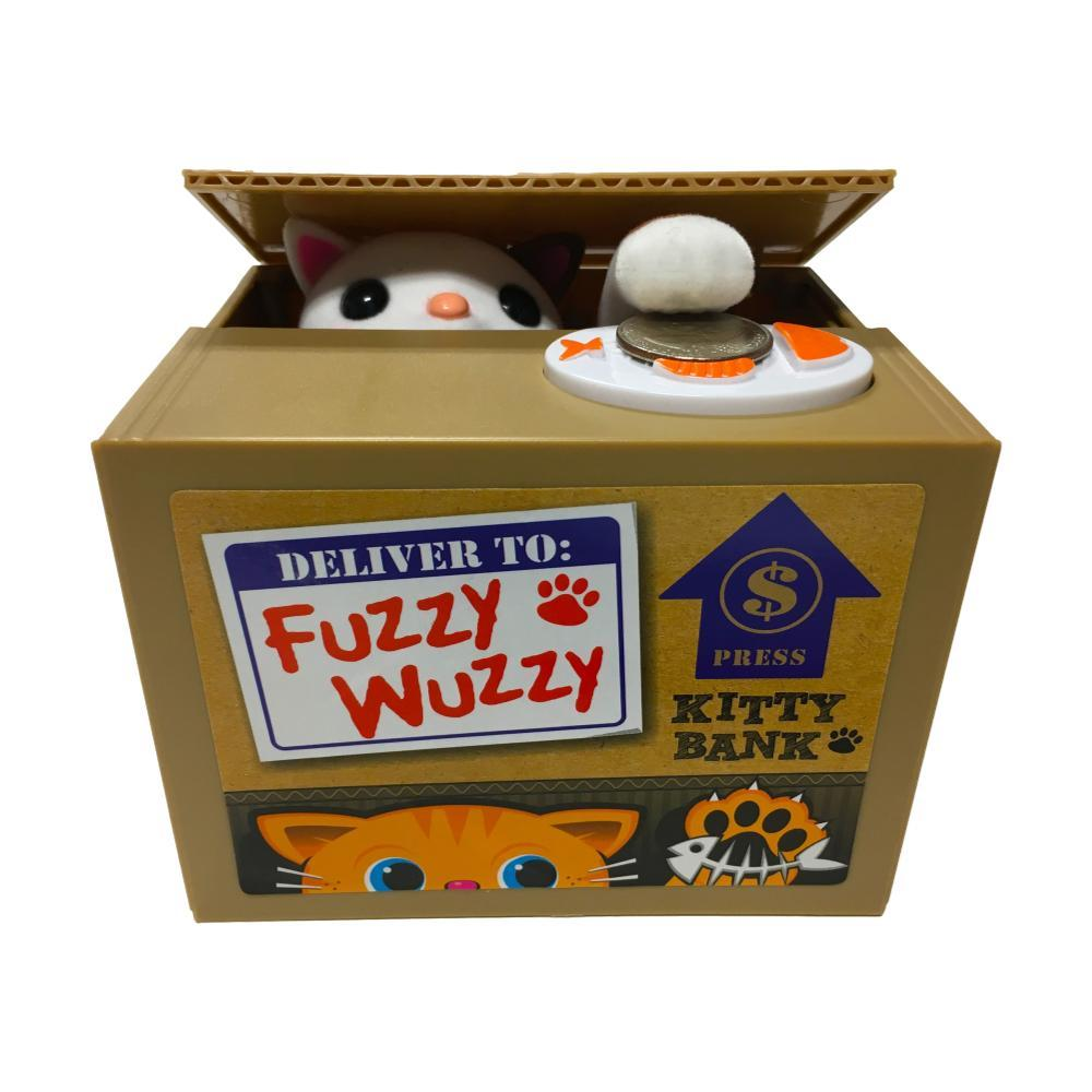 Leading Edge Fuzzy Wuzzy Kitty Coin Bank WHITE
