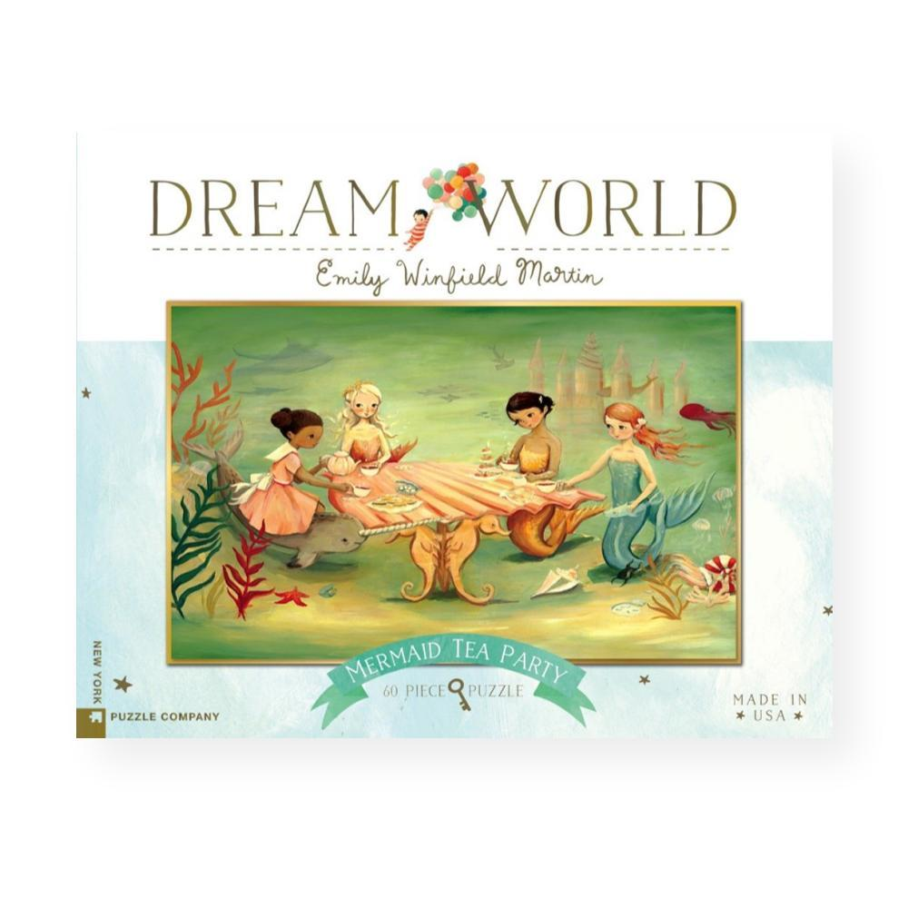 New York Puzzle Company Dream World Mermaid Tea Party Jigsaw Puzzle 60PC