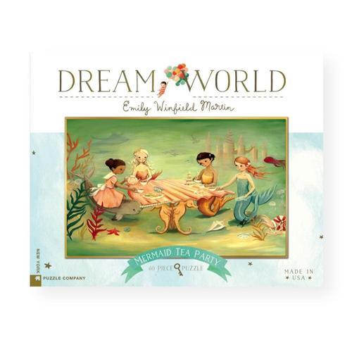 New York Puzzle Company Dream World Mermaid Tea Party Jigsaw Puzzle 60pc