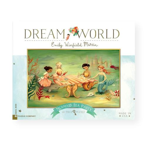 New York Puzzle Company Dream World Mermaid Tea Party Jigsaw Puzzle