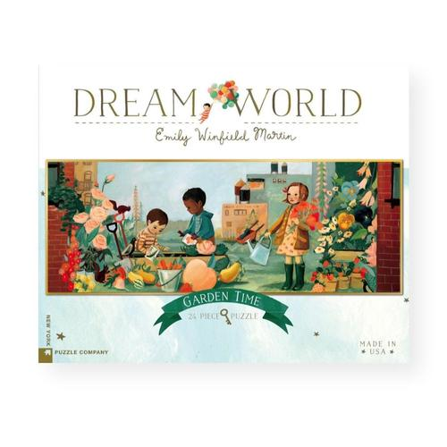 New York Puzzle Company Dream World Garden Time Jigsaw Puzzle 24pc