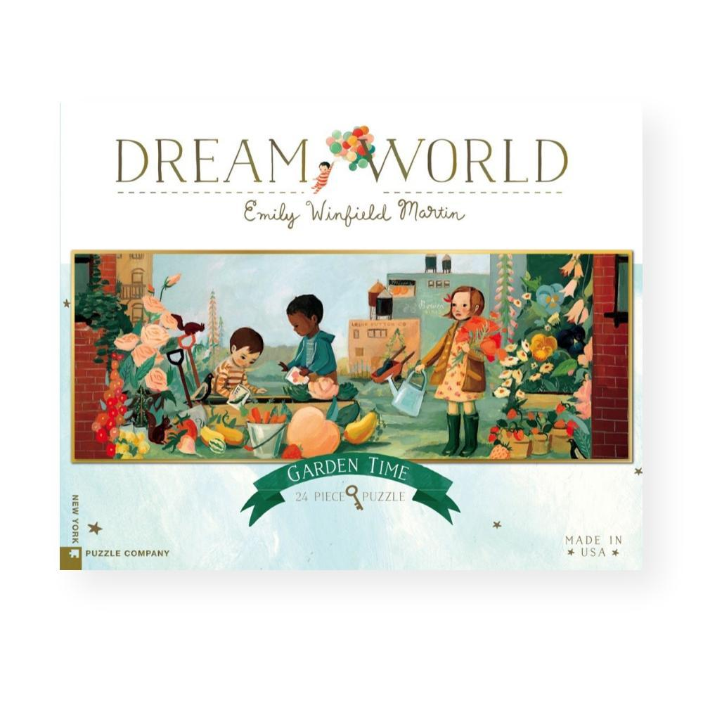 New York Puzzle Company Dream World Garden Time Jigsaw Puzzle