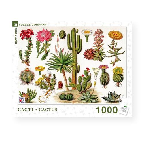 New York Puzzle Company Cacti - Cactus Jigsaw Puzzle 1000pc
