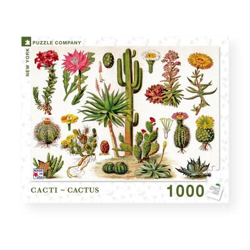 New York Puzzle Company Cacti - Cactus Jigsaw Puzzle