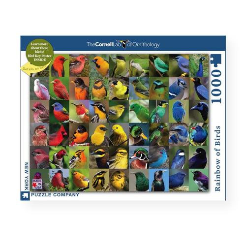 New York Puzzle Company Rainbow of Birds Jigsaw Puzzle 1000pc