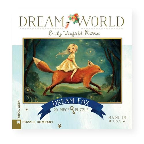 New York Puzzle Company Dream World Dream Fox Jigsaw Puzzle