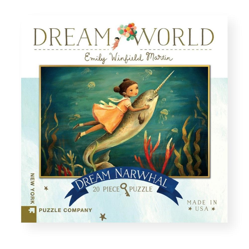 New York Puzzle Company Dream World Dream Narwhal Jigsaw Puzzle 20PC