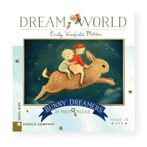 New York Puzzle Company Dream World Bunny Dreamers Jigsaw Puzzle 20pc