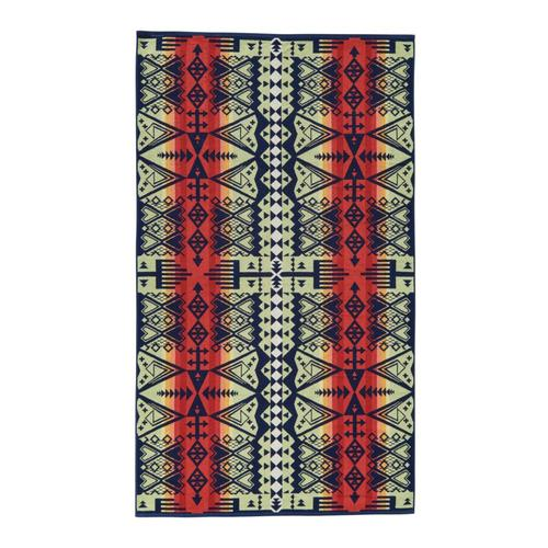 Pendleton Arrow Revival Oversized Jacquard Towel Navy
