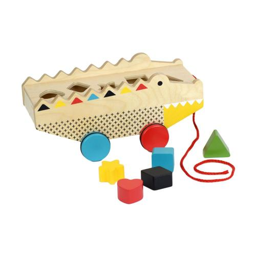 Petit Collage Rock + Roll Alligator Shape Sorter Pull Toy