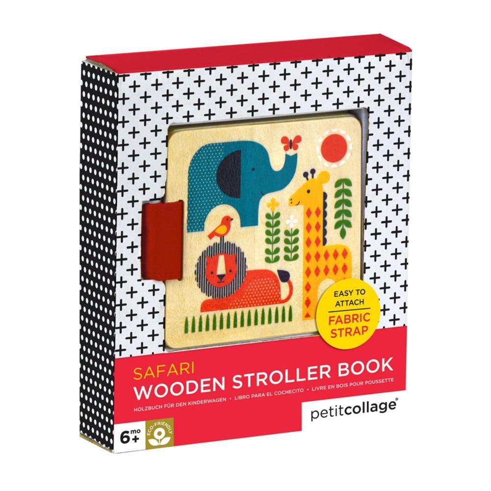 Petit Collage Wooden Stroller Book Safari Animals SAFARI