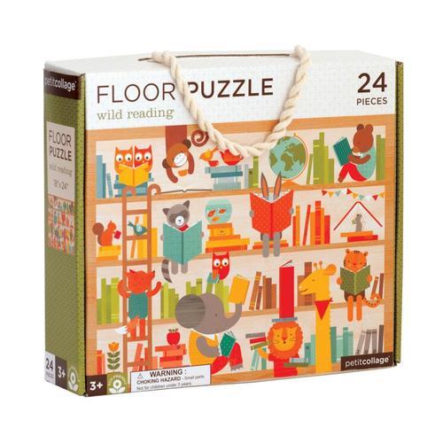 Petit Collage Wild Reading Floor Puzzle Wild.Reading