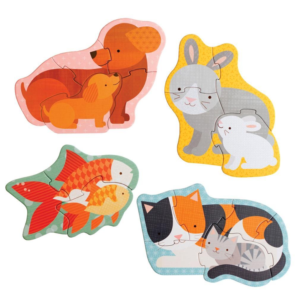 Petit Collage Pet Baby Animals Toddler And Preschool Puzzle