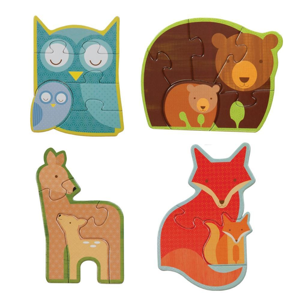 Petit Collage Forest Babies Toddler And Preschool Puzzle