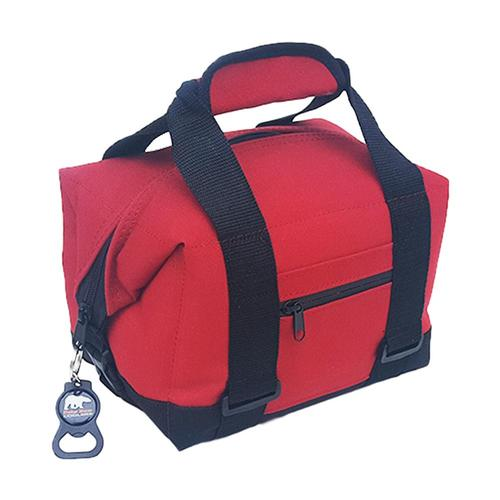 Polar Bear 6 Pack Nylon Soft Cooler Red