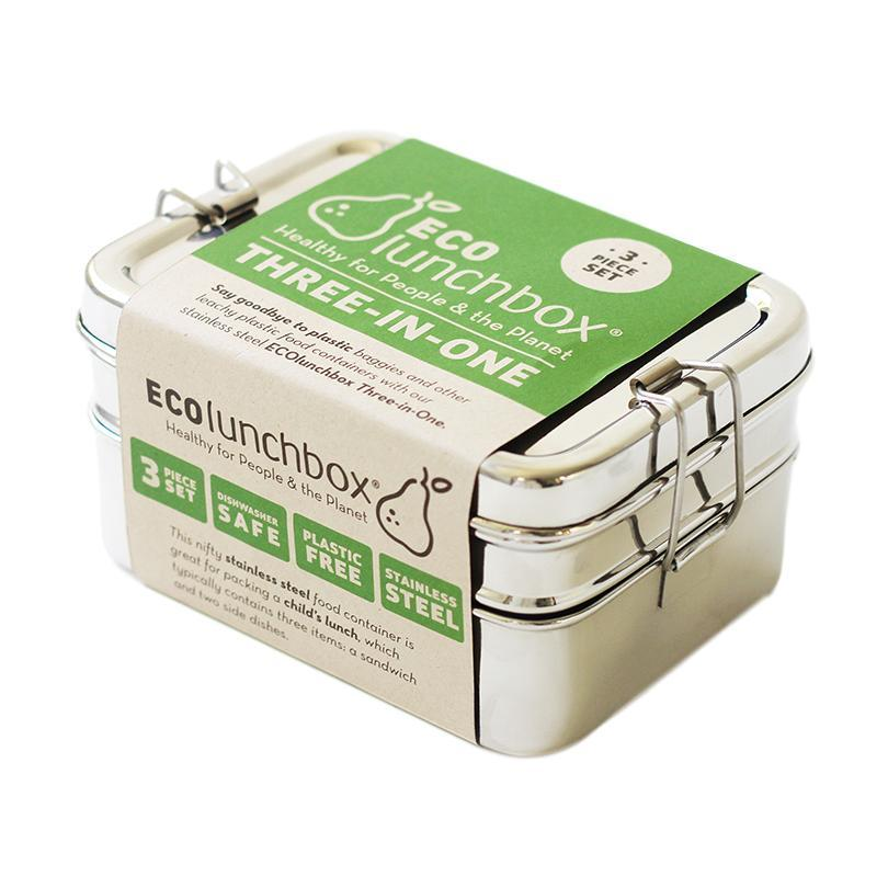 Ecolunchbox Three- In- One Stainless Bento Box Set