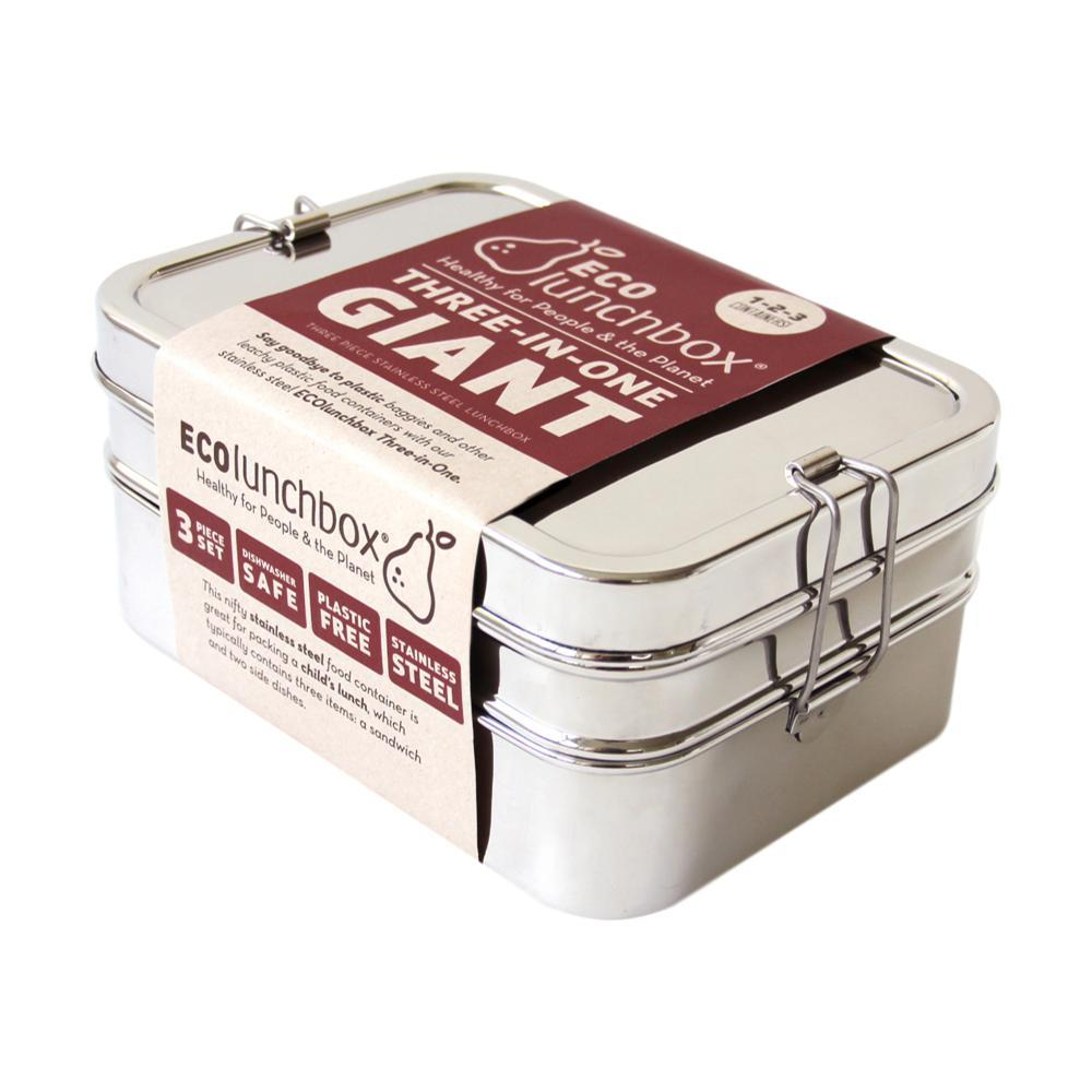 Ecolunchbox Three- In- One Giant Stainless Bento Box Set