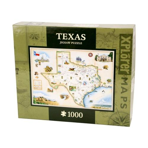 Xplorer Texas Map 1000 Piece Jigsaw Puzzle 1000pc
