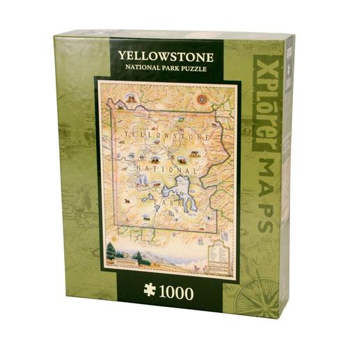 Xplorer Yellowstone Map 1000 Piece Jigsaw Puzzle