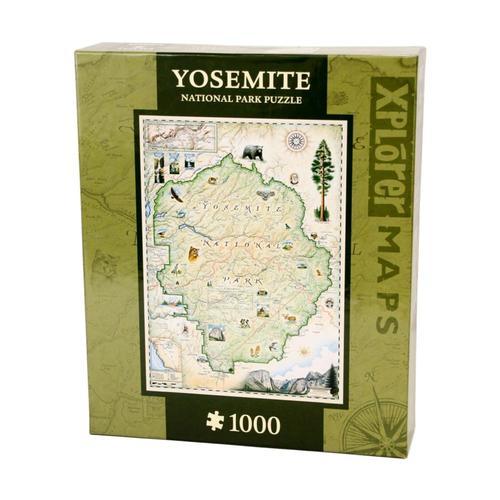 Xplorer Yosemite Map 1000 Piece Jigsaw Puzzle 1000pc