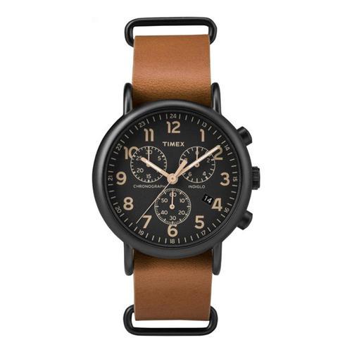 Timex Weekender Chronograph Watch Brown
