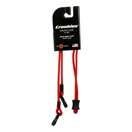 Croakies Terra Spec Cords Adjustable Eyewear Retainers Red