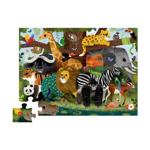 Crocodile Creek Jungle Friends Shaped Puzzle - 36pc
