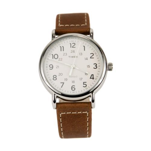 Timex Weekender 40mm Leather Strap Watch Brown