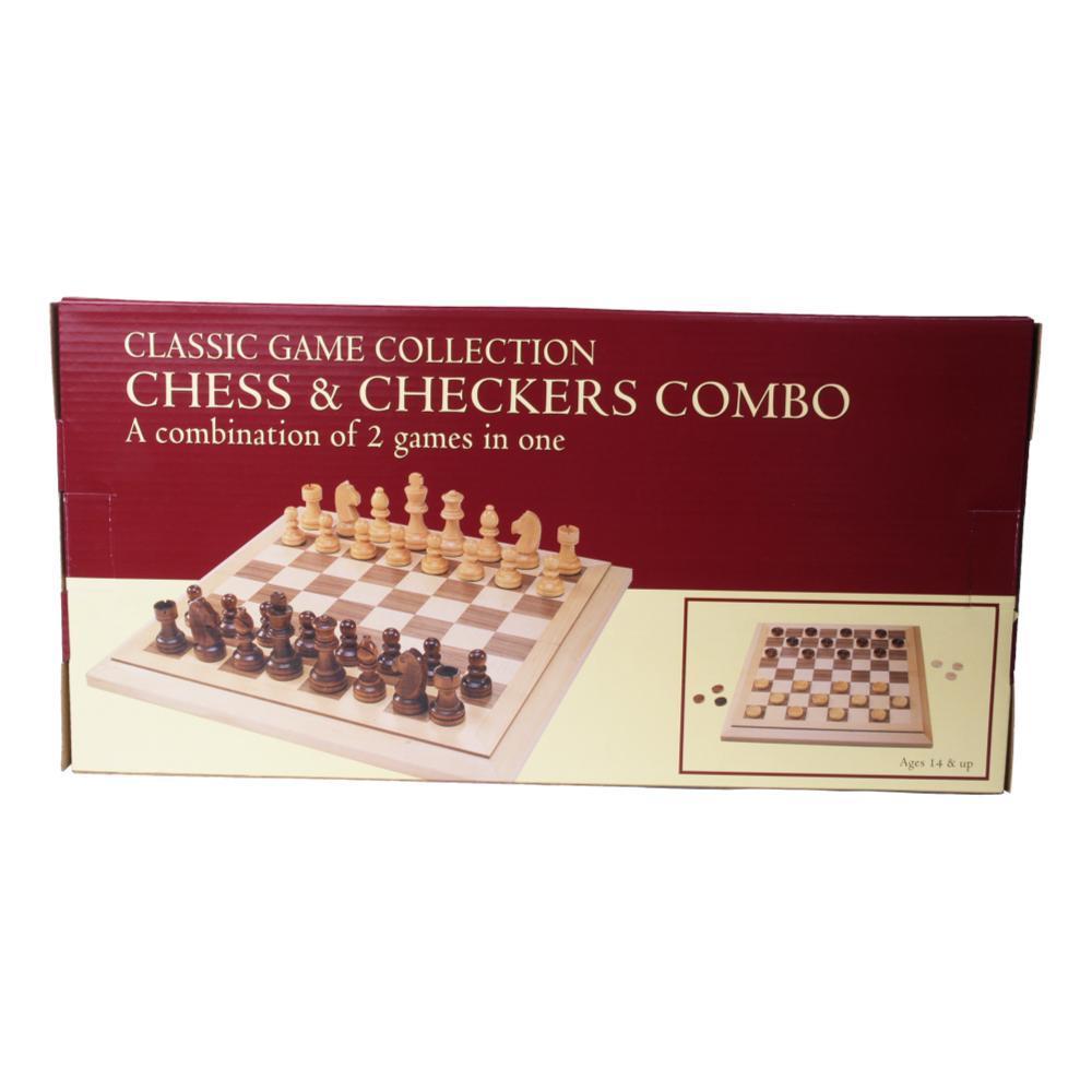 John N.Hansen Classic Wood Chess/Checkers Combo Set