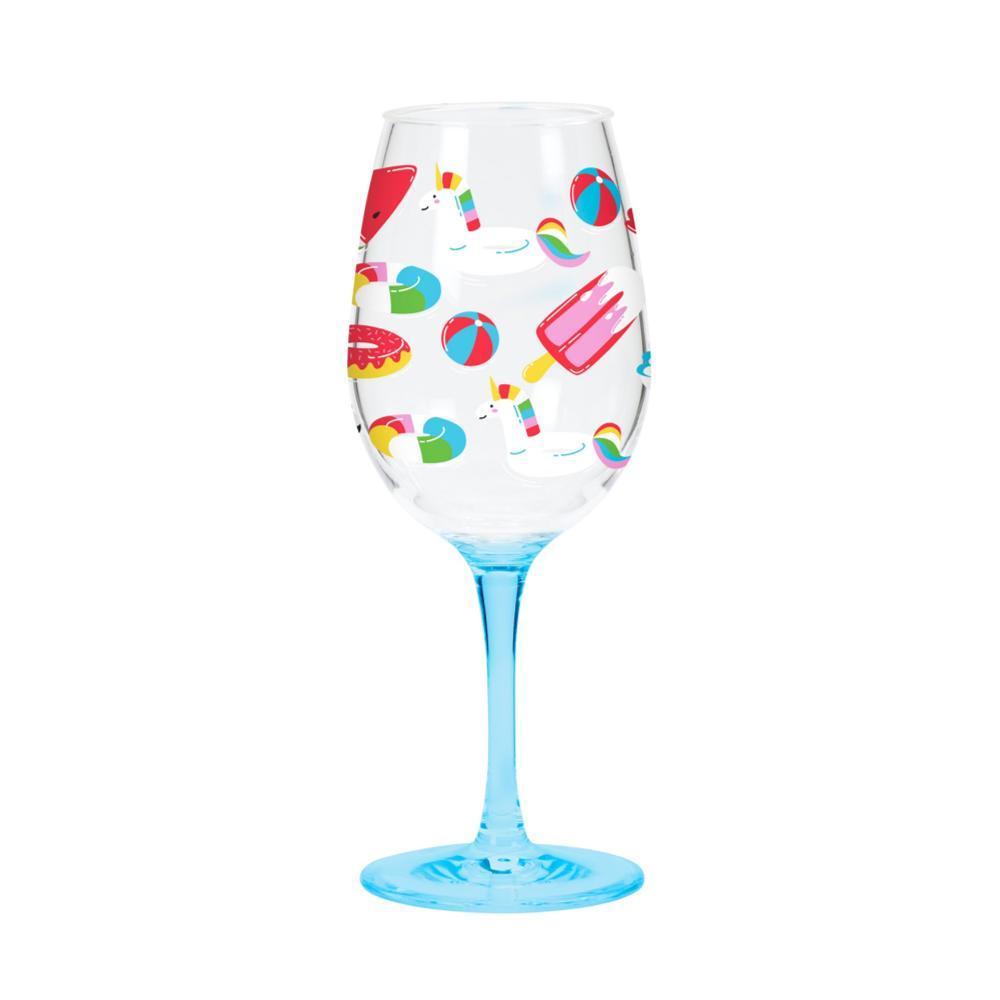C.R.Gibson Acrylic Wine Glass Set - Float