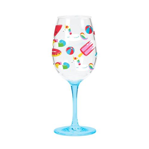 C.R. Gibson Acrylic Wine Glass Set - Float Float