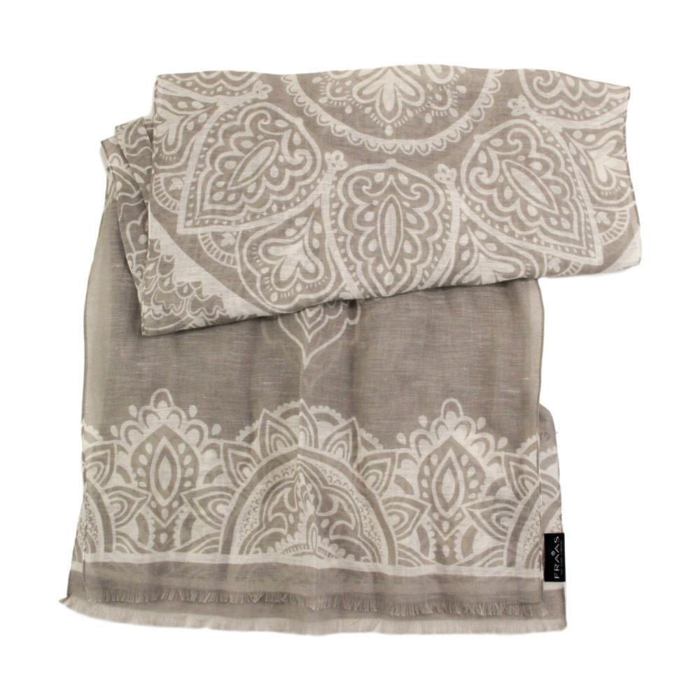 V. Fraas Moroccan Scroll Scarf SILVER_910