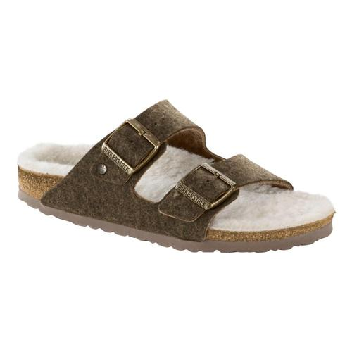 Birkenstock Men's Arizona Happy Lamb Sandals Dfkhaki