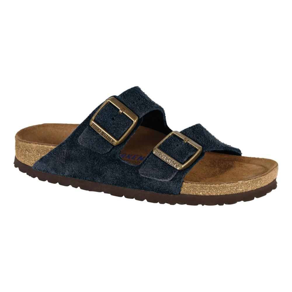 Birkenstock Men's Arizona Soft Footbed Suede Sandals NAVYSD
